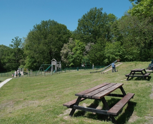 playground and picnic area in West Wood